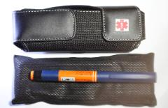 diabetes supplies case with frio cooling wallet