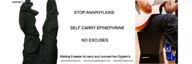 epipen no more excuses! carry epipen on you by omaxcare