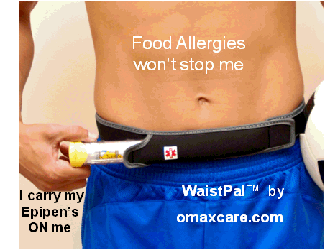 food allergies wont stop me, I carry my epipen inside the waistpal